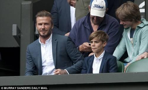 Beckham và Romeo.