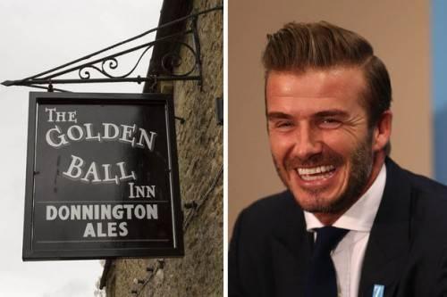 Quán rượu có tên Quả bóng Vàng khiến Beckham ấn tượng . Và anh quyết định mua căn biệt thự này ngay vì nó ở cạnh quán rượu.