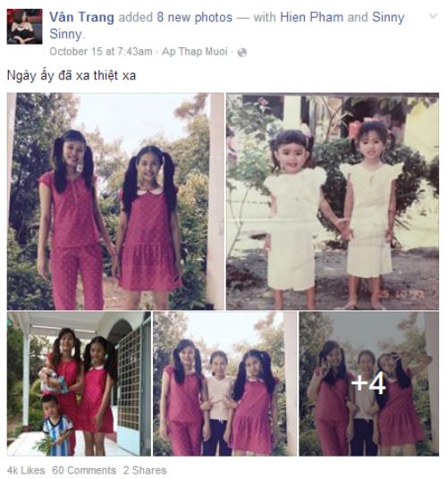Vân Trang có một tuổi thơ êm đẹp và đầy tiếng cười.