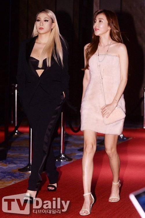 Nhóm 2NE1 gây chú ý với 2 thành viên CL và Sandara tới dự với 2 phong cách thời trang trái ngược khi đến dự buổi vận động từ thiện gây quỹ phòng chống và nâng cao nhận thức về ung thư vú của tạp chí thời trang W tổ chức tại khách sạn Four Seasons, Seoul.