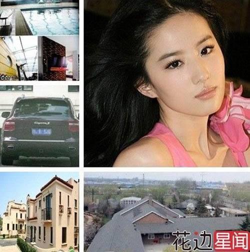 Triệu Vy sở hữu lắm nhà và xe.