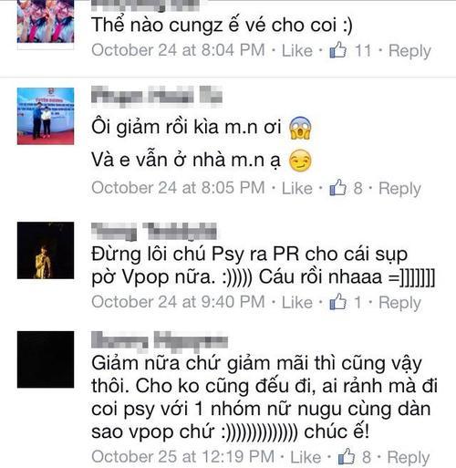 Một vài bình luận của người hâm mộ trên trang fanpage của Super X Festival.