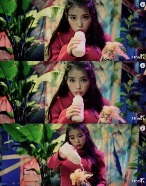 Cảnh IU bú bình trong MV.