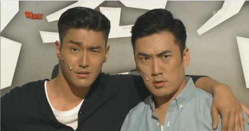 Danh hài Lee Sang Hoon bắt chước một kiểu tạo dáng của Si Won và được khen ngợi khá giống với phiên bản thật.