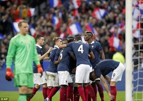 Đức thất bại, Pháp giành chiến thắng trong trận giao hữu này.