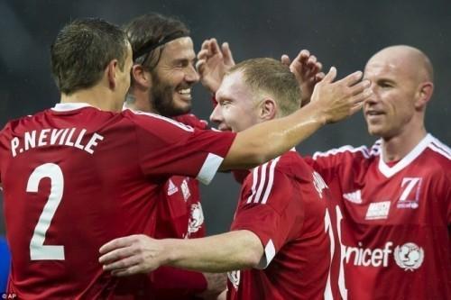 Đội huyền thoại do Beckham làm đội trưởng đã giành chiến thắng