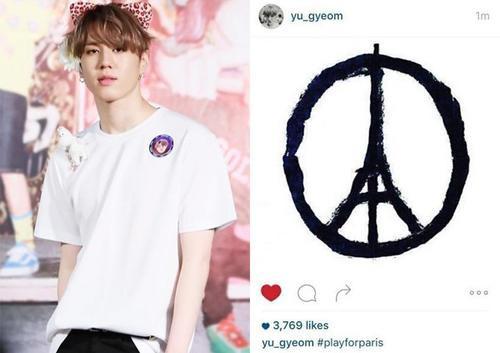 Yugyeom của nhóm Got7 cũng mắc lỗi như Park Chorong nhưng không bị chỉ trích.