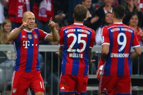 Lewandowski - Müller - Robben
