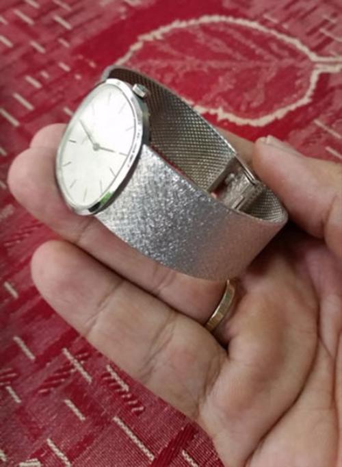 Chiếc PP theo lời bà K.H. nguyên là của gia đình Saddam Hussein được chế tác bằng bạch kim.