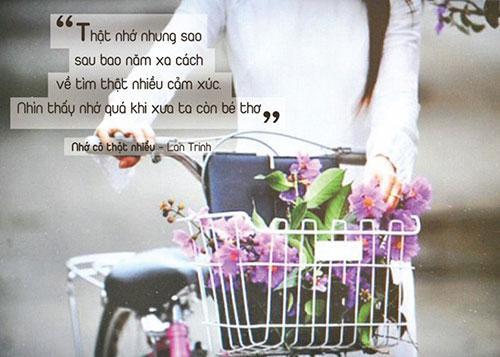 Nữ ca sĩ Lan Trinh viết ca khúc Nhớ cô thật nhiều dành tặng cho những người thầy, người cô nói chung và đặc biệt là cô giáo chủ nhiệm hồi lớp 5. Hình ảnh ân cần, luôn kèm cặp, động viên của người thầy đã giúp cô tìm thấy và đạt được ước mơ. Bài hát có ca từ mộc mạc, giai điệu nhẹ nhàng này được người nghe nhạc yêu thích.