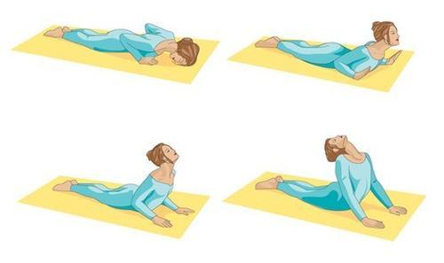 """Tư thế """"rắn hổ mang"""" trong yoga rất tốt trong việc giảm đau cổ, cột sống và phần lưng dưới."""