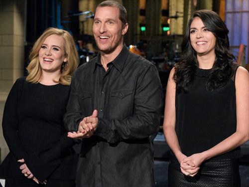 Matthew McConaughey và Adele tại SNL mới đây.