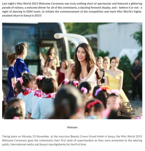 Bức ảnh thân thiện của Lan Khuê được đưa lên đầu bản tin quốc tế.