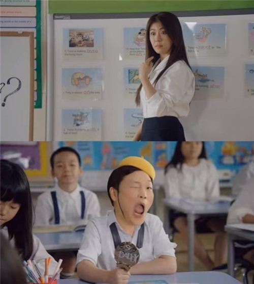 """Ha Ji Won vào vai cô giáo bị """"tiểu Psy"""" quyến rũ."""
