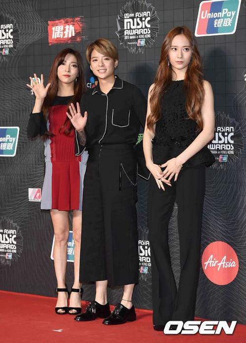 3 thành viên của f(x) gồm Amber, Krystal và Luna.