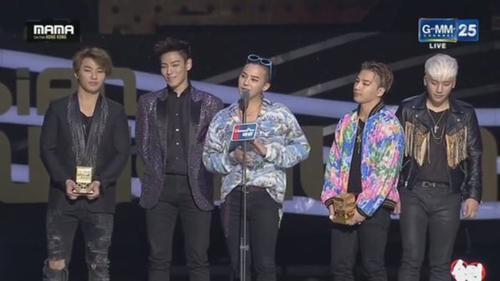 Big Bang đoạt 2 giải lớn không kém EXO là Nghệ sĩ của năm và Ca khúc của năm.