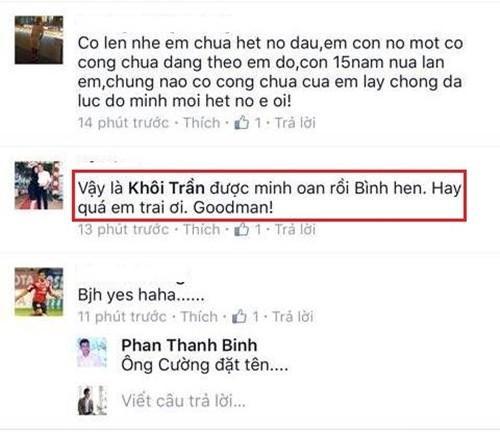 Đồng nghĩa với việc Phan Thanh Bình minh oan cho diễn viên Khôi Trần.