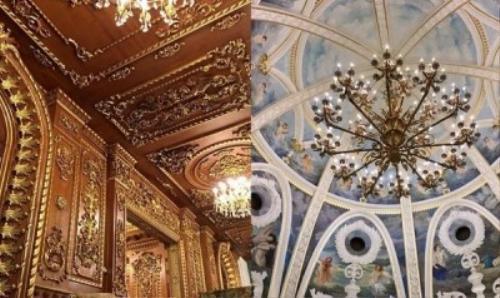 Không chỉ chăm chút cho bề ngoài của lâu đài, vị đại gia chịu chơi này còn đầu tư vào nội thất bên trong khiến nhiều người phải choáng váng với sự xa hoa của chủ nhân căn biệt thự này.