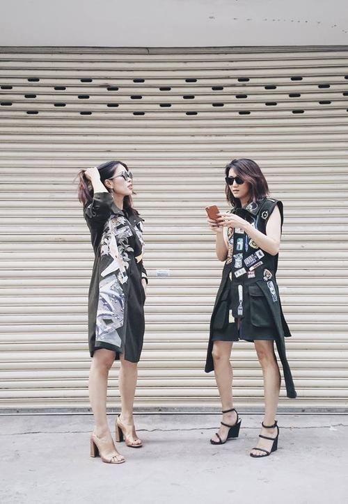 Biên tập viên thời trang Trần Hà Mi và Nguyễn Phương Anh ân