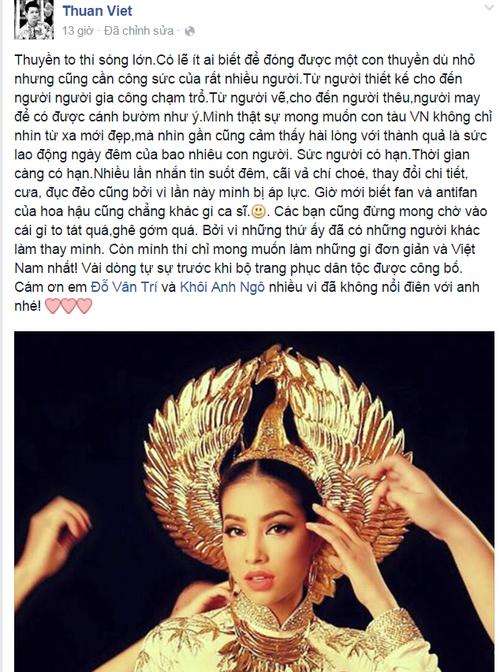 Nhà thiết kế Thuận Việt đầy tâm huyết với thiết kế l