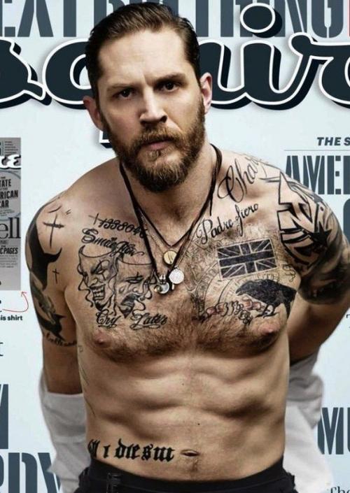 Một Tom Hardy phong trần trên tạp chí Esquire