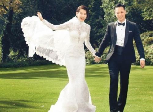 Ảnh cưới của Hạnh Nhi và hôn phu.