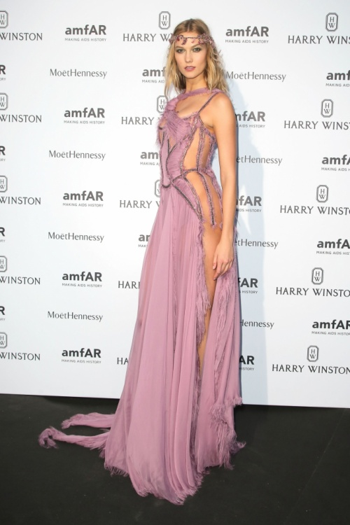 Karlie Kloss at an amfAR dinner on July 5.