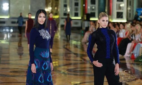 Lan Khuê nổi bật trong phần thi Top Model.