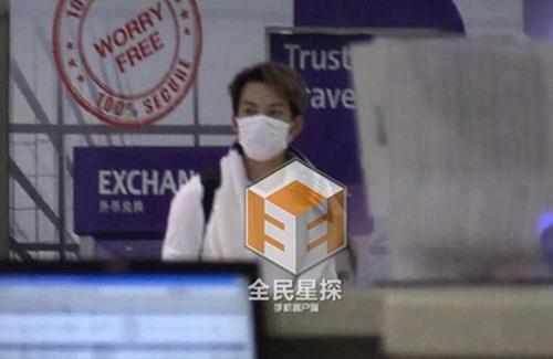 Chung Hán Lương xuất hiện kín đáo bên ngoài khách sạn.