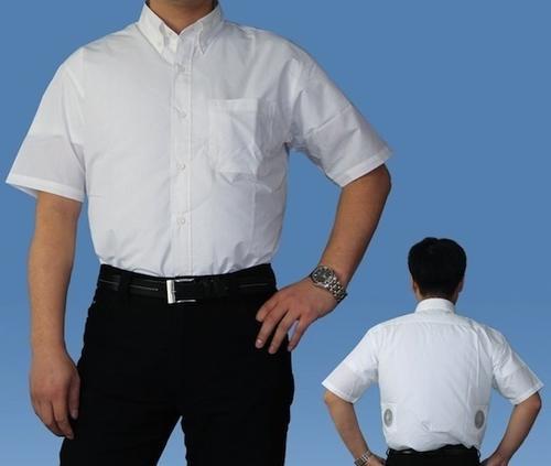 Áo sơ-mi có nút phồng hơi, không cần bàn ủi mỗi khi bạn đi làm trễ mà áo vẫn căng phồng.