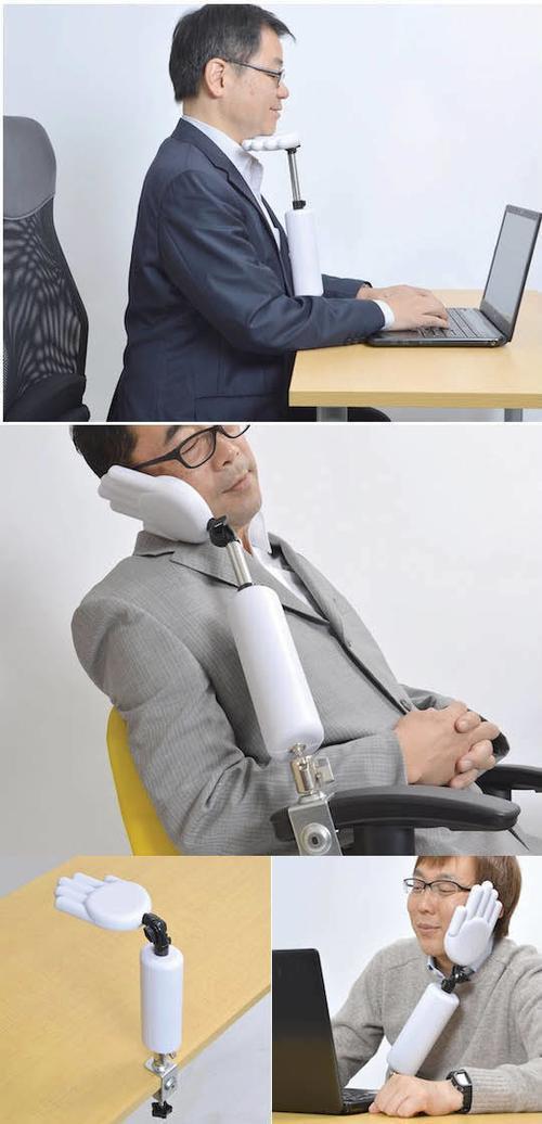 """Bàn tay rô-bốt nâng đỡ cằm khi ngồi làm việc, là """"chiếc gối"""" khi bạn nằm ngủ."""