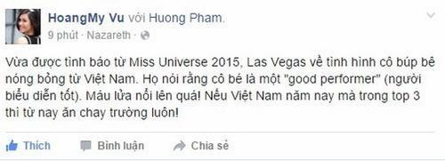 Vũ Hoàng My động viên Phạm Hương.