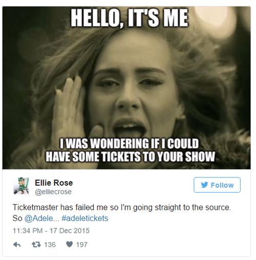 Fan chế lại lời Hello theo tâm trạng buồn bã vì không mua được vé concert.