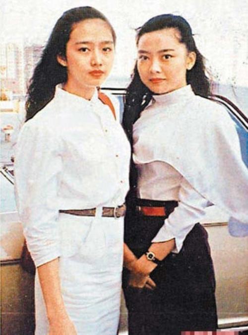 Vợ Lưu Đức Hoa (ảnh trái) thời trẻ.