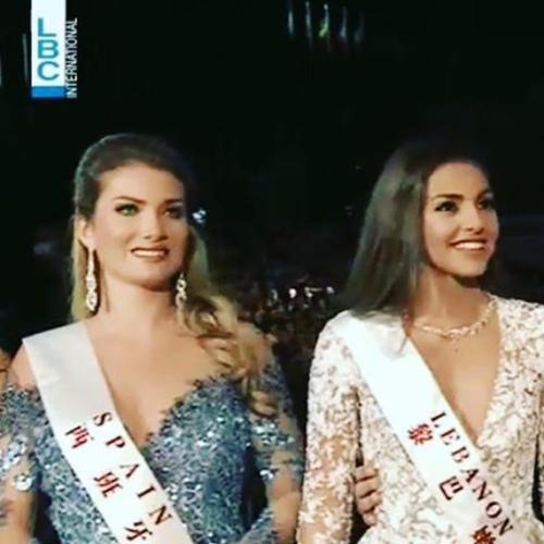 Bên cạnh Lebanon (phải), tân Hoa hậu còn lép vế về nhan sắc.