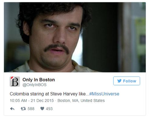 """""""Đây là ánh mắt mà người dân Colombia dành cho Steve""""."""