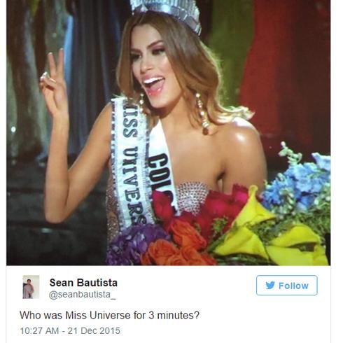 Ariadna Gutiérrez được làm Hoa hậu Hoàn vũ 2015 trong 3 phút.