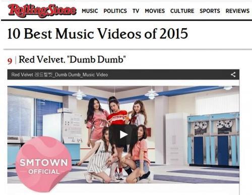 MV Dumb Dumb của Red Velvet được Rolling Stone xếp thứ 9 trong 10 MV hay nhất 2015.