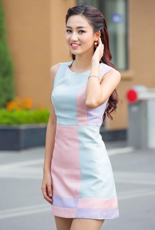 Vẻ đẹp của Trà My được cho không lọt chuẩn Hoa hậu Hoàn vũ.