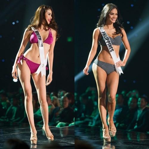 Nụ cười rạng rỡ và tươi tắn của Phạm Hương chẳng kém cạnh Tân Hoa hậu Hoàn vũ.