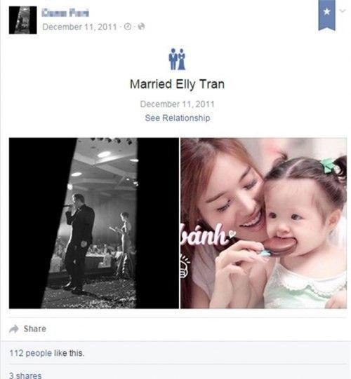 D.F công khai tình trạng hôn nhân là đã kết hôn với Elly Trần trên trang cá nhân.