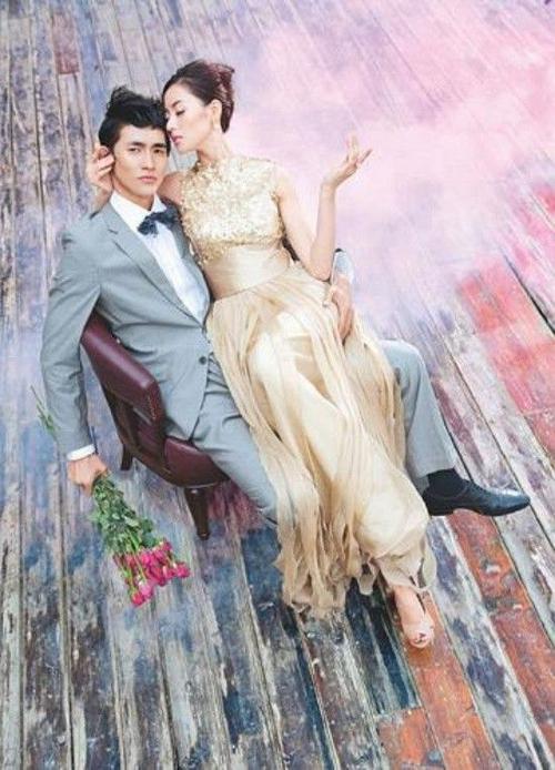 Bộ ảnh cưới của Trương Thiên Ái và người tình một thời - Lý Tử Phong.
