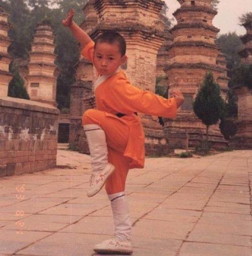 Sao nhí nổi đình đám Thích Tiểu Long - thần đồng võ thuật của nền điện ảnh Hoa ngữ - khi mới bước chân vào nghề.