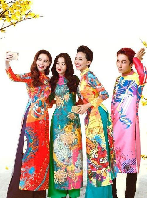 Nyle DiMarco, Mame Adjei hào hứng diện áo dài chụp ảnh Tết cùng các sao Việt (7)