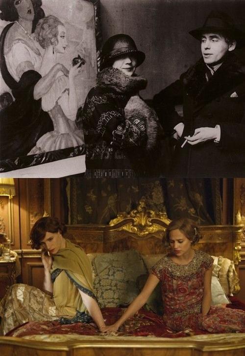 Vợ chồng Einar ngoài đời (ảnh trên) và trong phim (ảnh dưới).