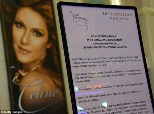 Nữ ca sĩ hủy show sau cái chết của chồng.