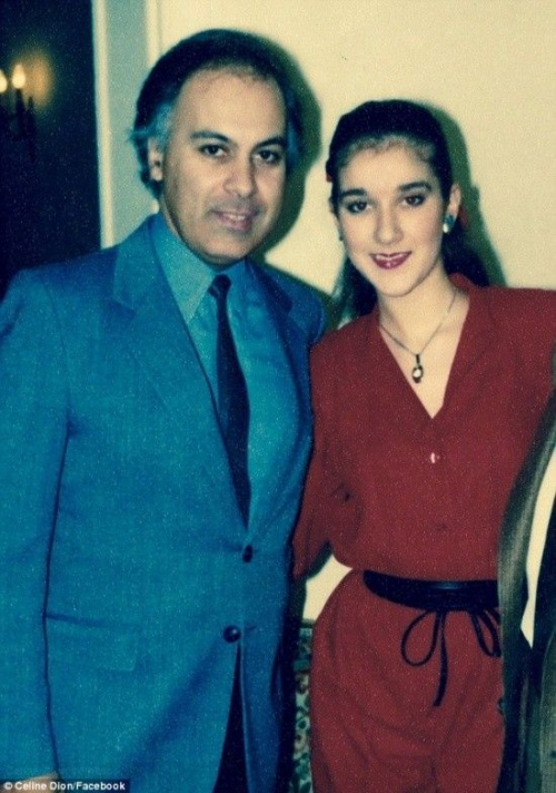 Rene và Celine Dion năm 1985.