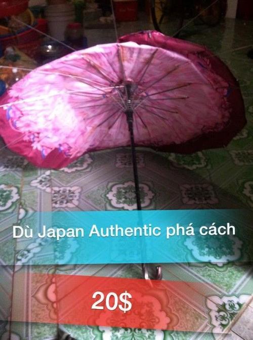 """""""Umbrella chất lượng Nhật Bản, thách thức mưa to gió lớn, chất lượng dù bền đẹp không thấm nước, thíết kế phá cách, thích hợp cho Swag Boy Swag Girl""""."""