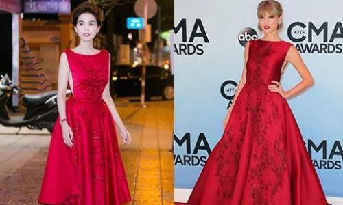 Trước đó, nữ hoàng nội y cũng đã có màn đụng hàng với cô ca sĩ Taylor Swift.