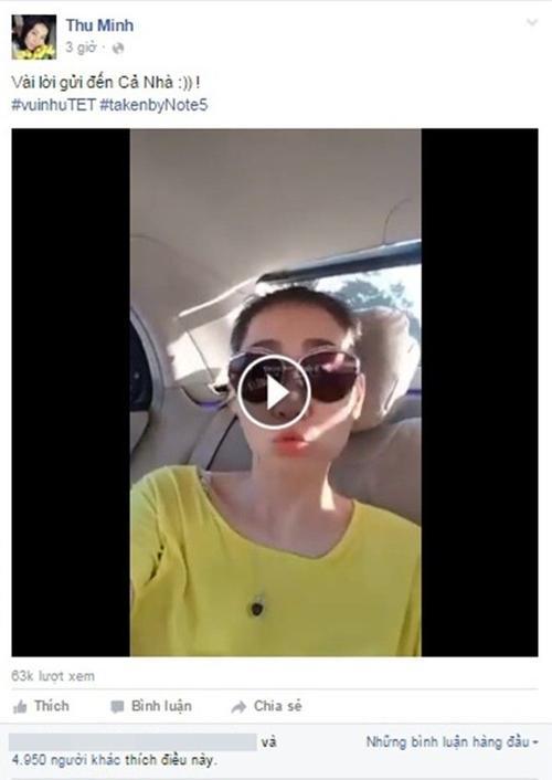 Chỉ sau vài giờ, video của Thu Minh đã thu hút hơn 60.000 lượt xem và hàng ngàn lượt yêu thích từ khán giả.
